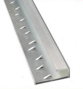 Silver Squared Edge Carpet Trim